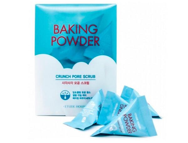 Скраб для лица с содой Etude House Baking Powder Crunch Pore Scrub, 24шт по 7г - Фото №1