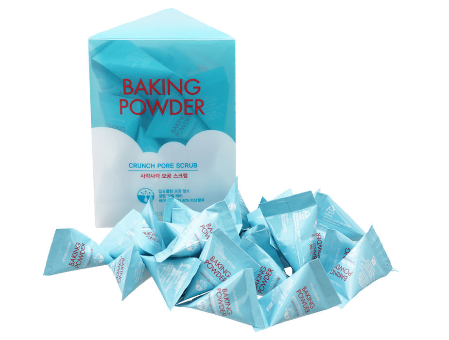 Скраб для лица с содой Etude House Baking Powder Crunch Pore Scrub, 24шт по 7г - Фото №2