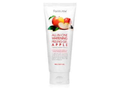 Осветляющий пилинг для лица с экстрактом яблока FarmStay All-In-One Whitening Peeling Gel Cream Apple, 180мл - Фото №1