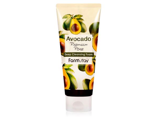Пенка для умывания с экстрактом авокадо FarmStay Avocado Deep Cleansing Foam, 180мл - Фото №1