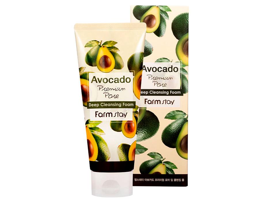 Пенка для умывания с экстрактом авокадо FarmStay Avocado Deep Cleansing Foam, 180мл - Фото №2