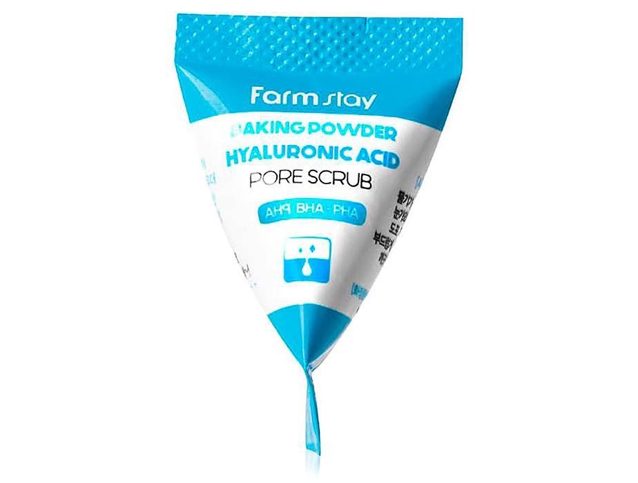 Содовый скраб для лица с гиалуроновой кислотой FarmStay Baking Powder Hyaluronic Acid Pore Scrub, 7г
