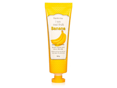 Увлажняющий и питательный крем для рук с экстрактом банана FarmStay I Am Real Fruit Banana Hand Cream, 100мл - Фото №1
