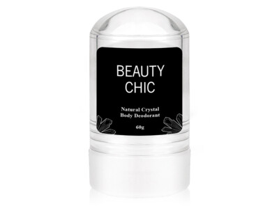 100% натуральный кристальный дезодорант Алунит Beauty Chic Natural Crystal Body Deodorant, 60г