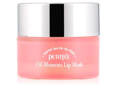 Ночная маска для губ с маслом камелии и витамином Е Petitfee Oil Blossom Lip Mask Camellia Seed Oil, 15г - Фото №1
