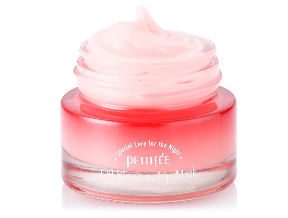 Ночная маска для губ с маслом камелии и витамином Е Petitfee Oil Blossom Lip Mask Camellia Seed Oil, 15г - Фото №3