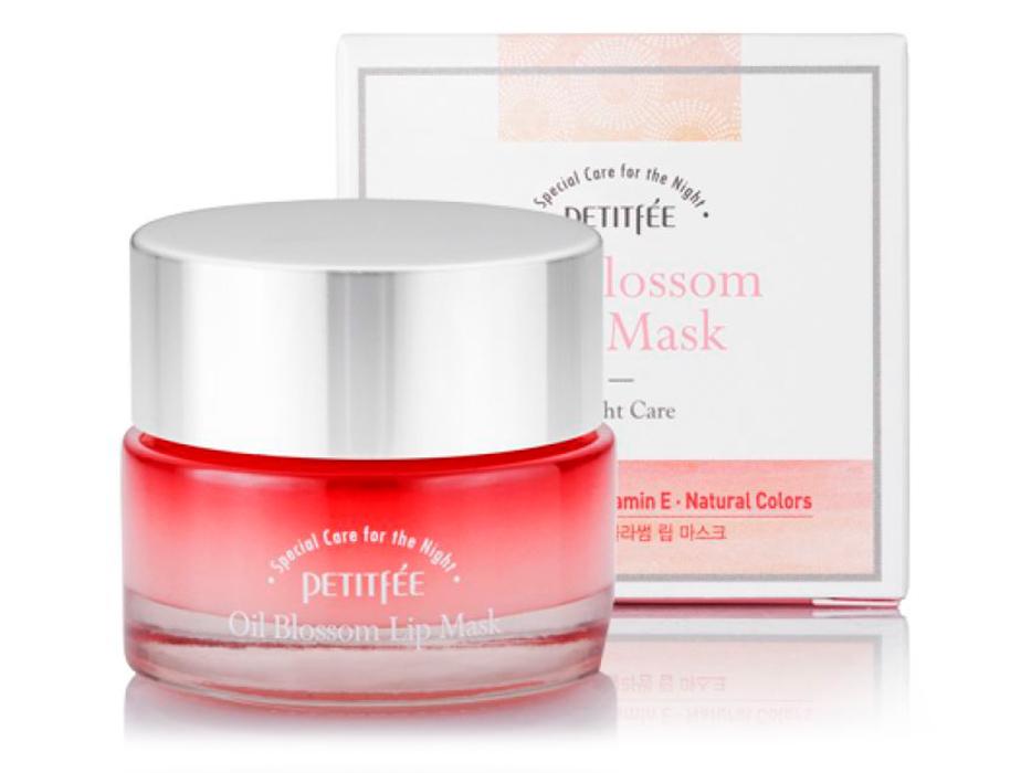 Ночная маска для губ с маслом камелии и витамином Е Petitfee Oil Blossom Lip Mask Camellia Seed Oil, 15г - Фото №4