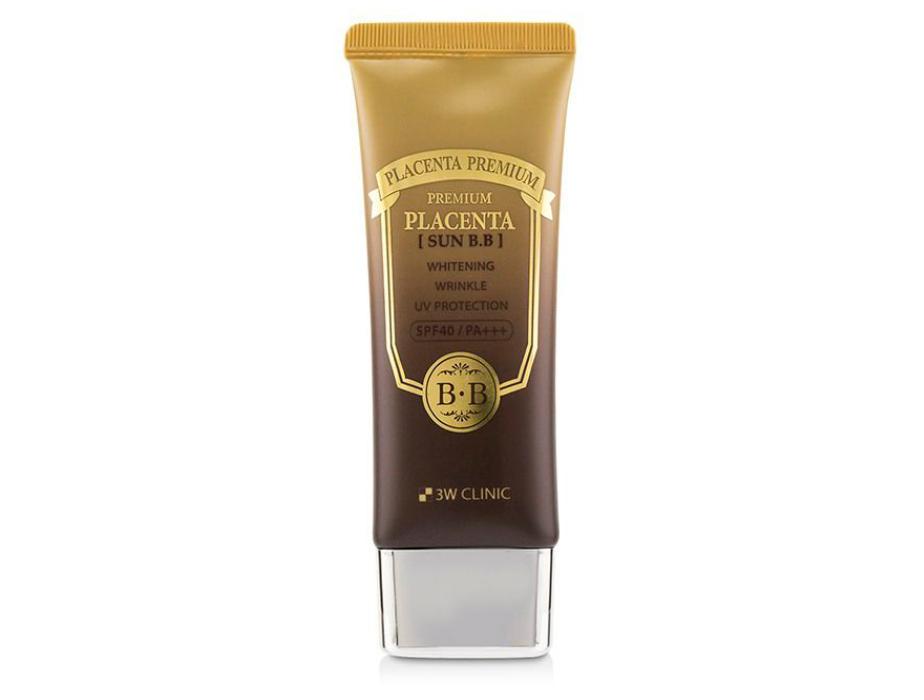 Солнцезащитный BB крем для лица с экстрактом плаценты 3W Clinic Premium Placenta Sun BB Cream SPF 40, 70мл - Фото №1