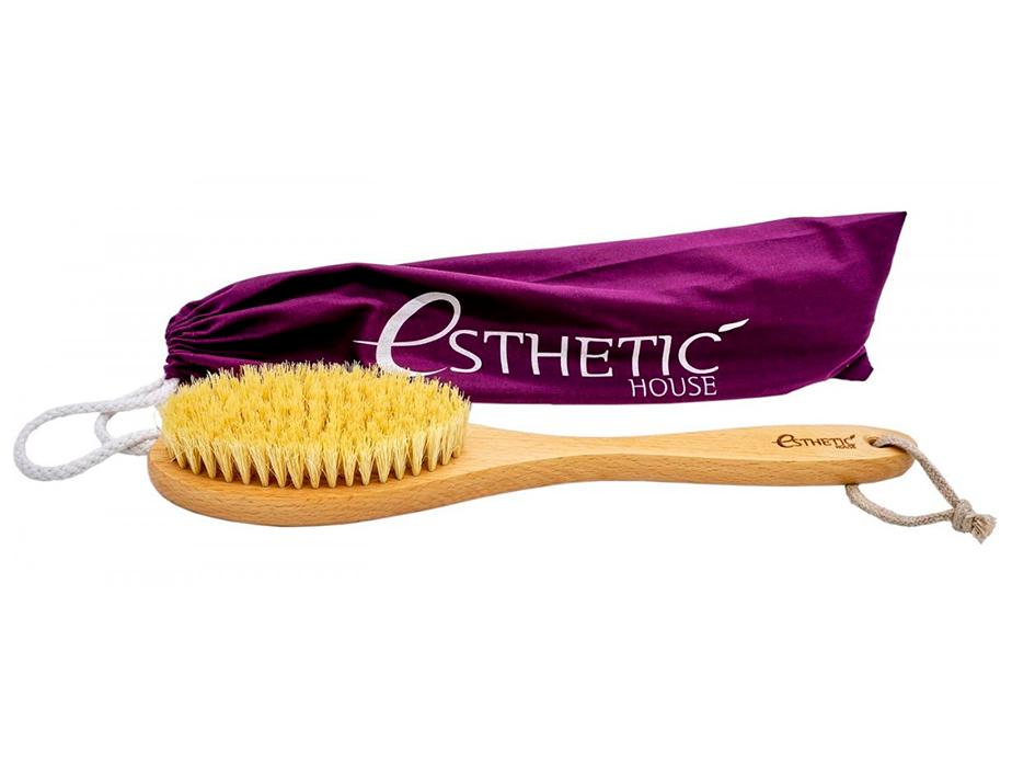 Дренажная щётка для сухого массажа из бука и натуральной щетины Esthetic House Dry Massage Brush - Фото №2