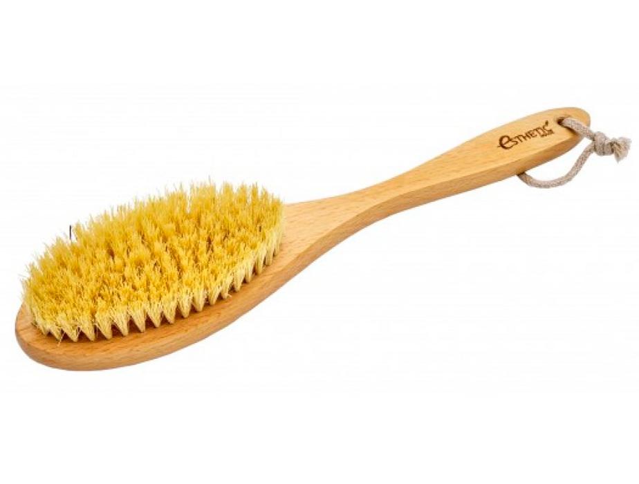 Дренажная щётка для сухого массажа из бука и натуральной щетины Esthetic House Dry Massage Brush - Фото №4