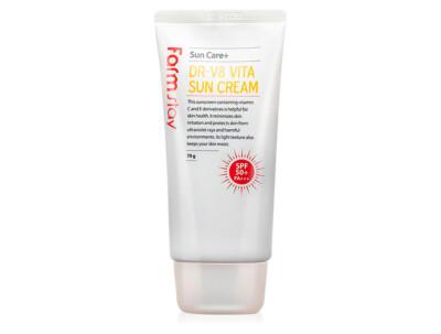 Витаминизированный солнцезащитный крем для лица FarmStay DR.V8 Vita Sun Cream SPF 50+, 70мл - Фото №1