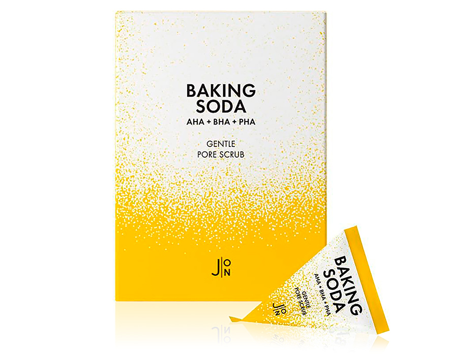 Содовый скраб для лица с 3 типами кислот J:ON Baking Soda Gentle Pore Scrub, 20шт по 5г - Фото №1