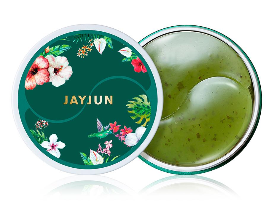 Гидрогелевые патчи под глаза с экстрактом зеленого чая Jayjun Green Tea Eye Gel Patch, 60шт - Фото №1