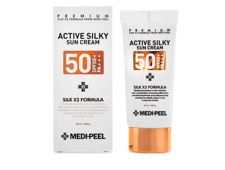 Солнцезащитный крем для лица Medi-Peel Active Silky Sun Cream SPF 50+, 50мл - Фото №2