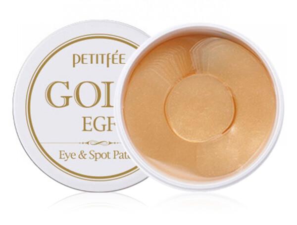 Гидрогелевые патчи под глаза с золотом и EGF Petitfee Gold & EGF Eye Spot Patch, 90шт - Фото №1