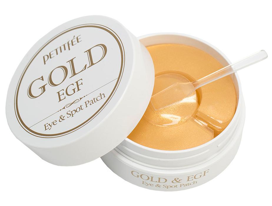 Гидрогелевые патчи под глаза с золотом и EGF Petitfee Gold & EGF Eye Spot Patch, 90шт - Фото №2