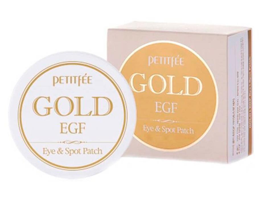 Гидрогелевые патчи под глаза с золотом и EGF Petitfee Gold & EGF Eye Spot Patch, 90шт - Фото №4