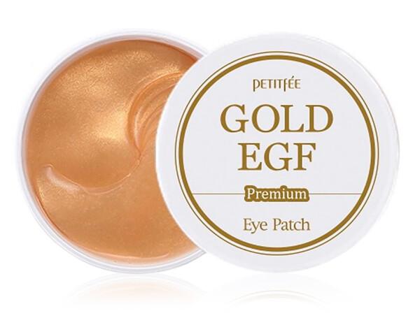 Гидрогелевые патчи под глаза с золотом и EGF Petitfee Premium Gold & EGF Eye Patch, 60шт - Фото №1