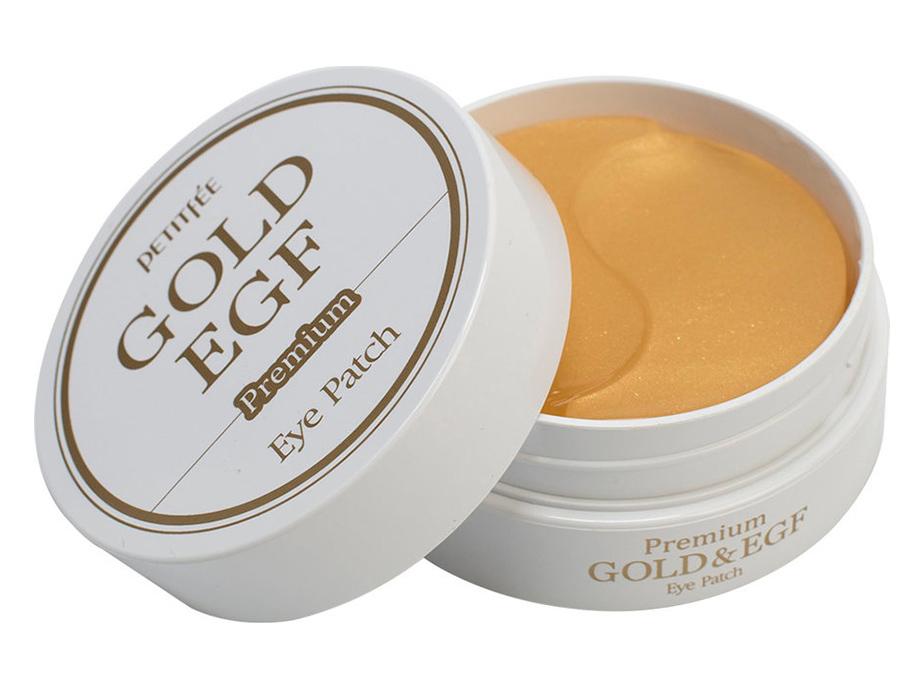 Гидрогелевые патчи под глаза с золотом и EGF Petitfee Premium Gold & EGF Eye Patch, 60шт - Фото №2