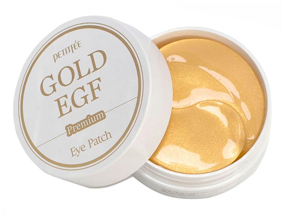 Гидрогелевые патчи под глаза с золотом и EGF Petitfee Premium Gold & EGF Eye Patch, 60шт - Фото №3