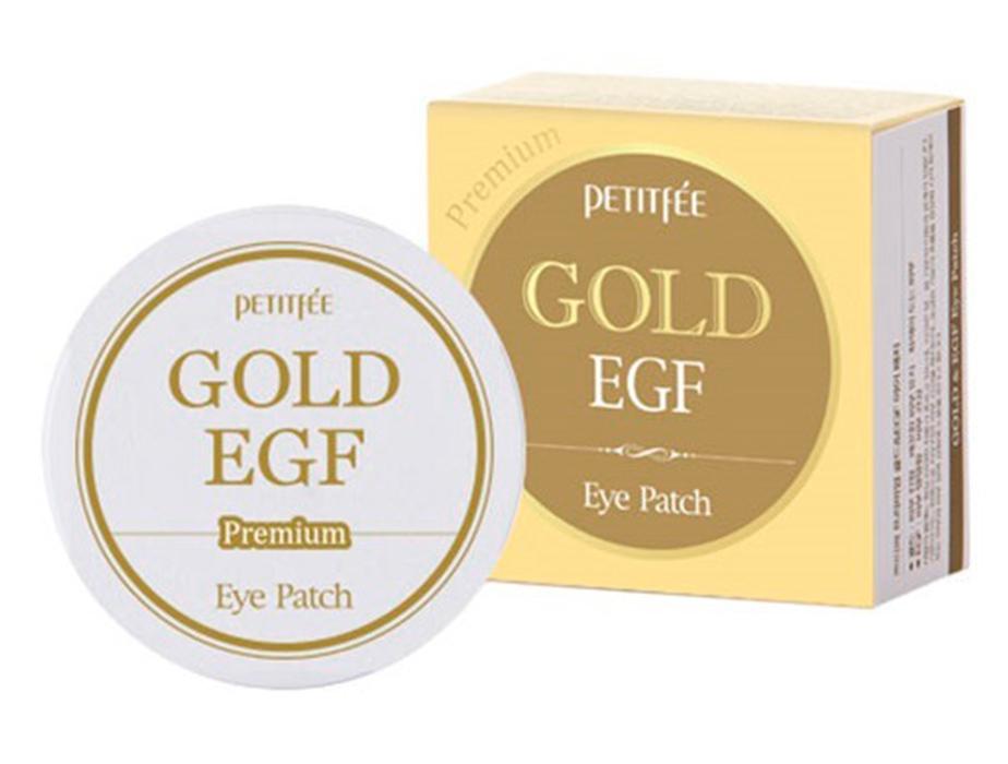 Гидрогелевые патчи под глаза с золотом и EGF Petitfee Premium Gold & EGF Eye Patch, 60шт - Фото №4