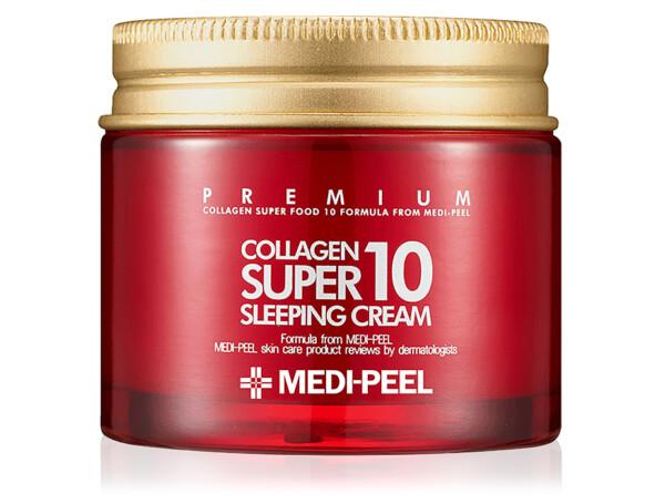 Омолаживающий ночной крем для лица с коллагеном Medi-Peel Collagen Super 10 Sleeping Cream, 70мл - Фото №1