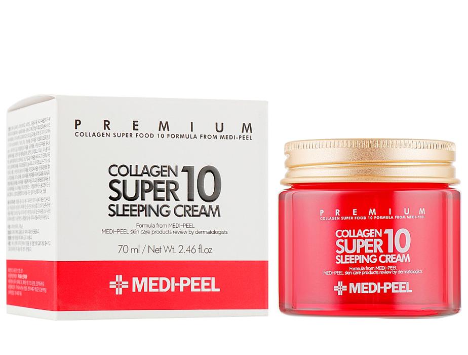 Омолаживающий ночной крем для лица с коллагеном Medi-Peel Collagen Super 10 Sleeping Cream, 70мл - Фото №2