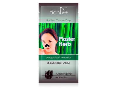 Очищающий пластырь для носа «Бамбуковый уголь» TianDe Master Herb Bamboo Charcoal Strip, 1шт - Фото №1
