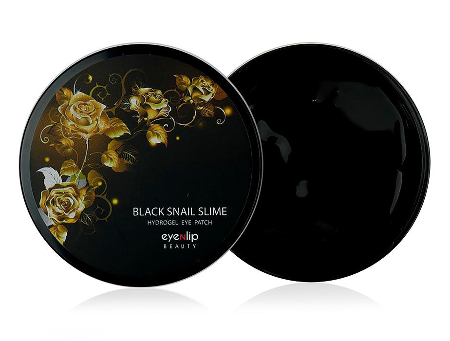 Гидрогелевые патчи под глаза  с муцином черной улитки Eyenlip Black Snail Slime Hydrogel Eye Patch, 60шт - Фото №1