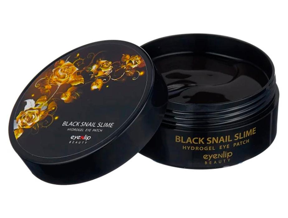Гидрогелевые патчи под глаза  с муцином черной улитки Eyenlip Black Snail Slime Hydrogel Eye Patch, 60шт - Фото №2
