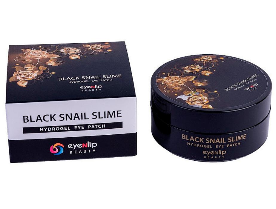 Гидрогелевые патчи под глаза  с муцином черной улитки Eyenlip Black Snail Slime Hydrogel Eye Patch, 60шт - Фото №3