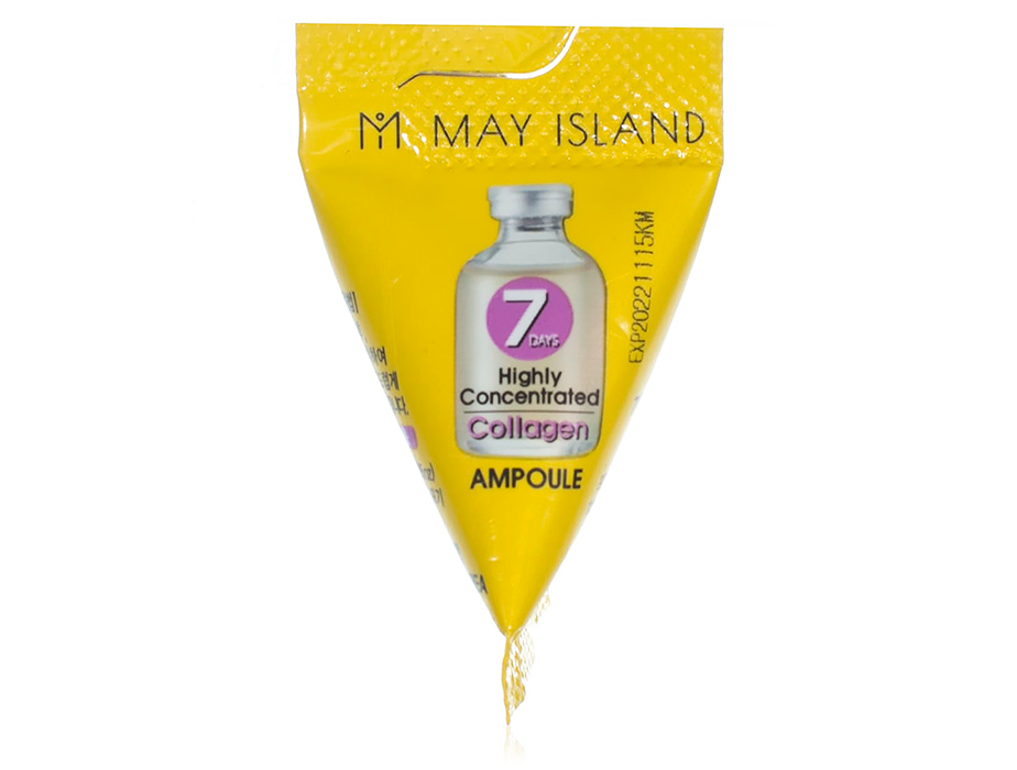 Сыворотка с коллагеном для упругости кожи лица May Island 7 Days Highly Concentrated Collagen Ampoule, 3г