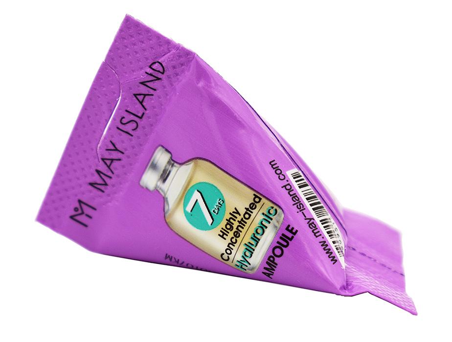 Увлажняющая сыворотка для лица с гиалуроновой кислотой May Island 7 Days Highly Concentrated Hyaluronic Ampoule, 3г - Фото №2
