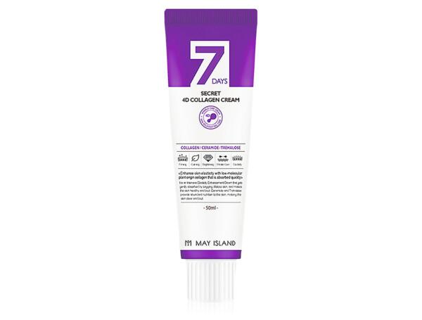 Антивозрастной крем для лица с 4 видами коллагена May Island 7 Days Secret 4D Collagen Cream, 50мл - Фото №1