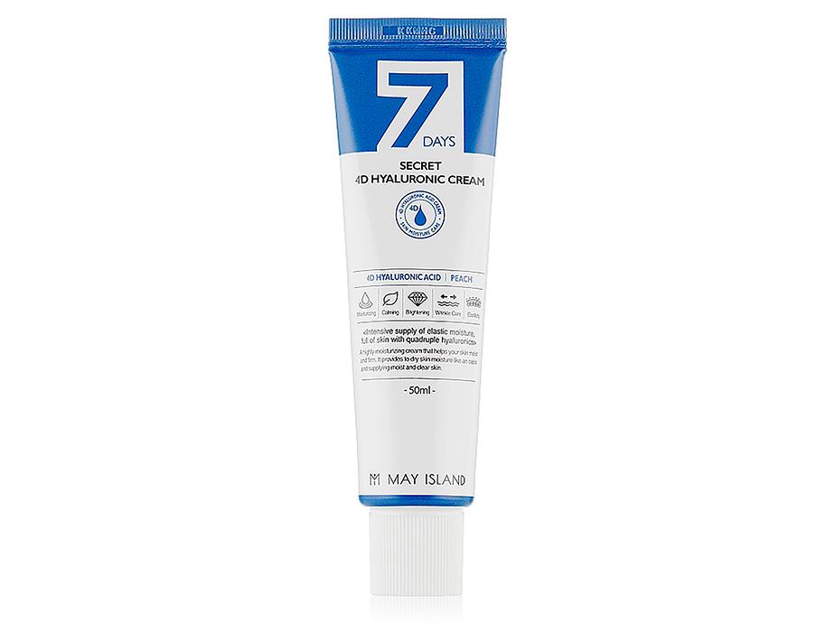 Увлажняющий крем для лица с 4 видами гиалуроновой кислоты May Island 7 Days Secret 4D Hyaluronic Cream, 50мл - Фото №1