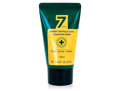 Очищающая пенка для проблемной кожи с экстрактом центеллы May Island 7 Days Secret Centella Cica Cleansing Foam, 30мл - Фото №1