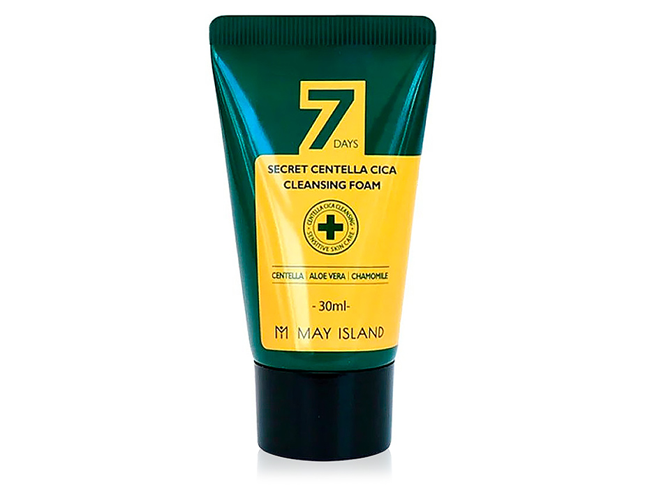 Очищающая пенка для проблемной кожи с экстрактом центеллы May Island 7 Days Secret Centella Cica Cleansing Foam, 30мл