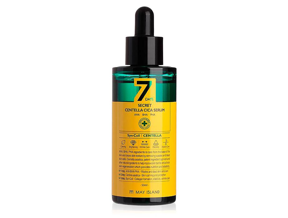 Восстанавливающая сыворотка для проблемной кожи с экстрактом центеллы May Island 7 Days Secret Centella Cica Serum, 50мл - Фото №1