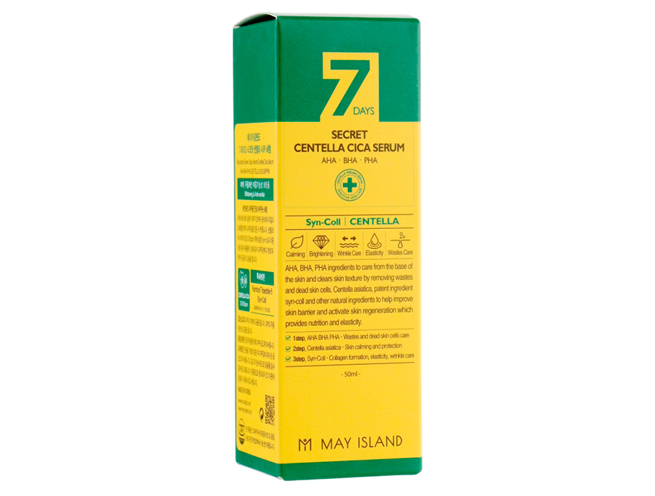 Восстанавливающая сыворотка для проблемной кожи с экстрактом центеллы May Island 7 Days Secret Centella Cica Serum, 50мл - Фото №2
