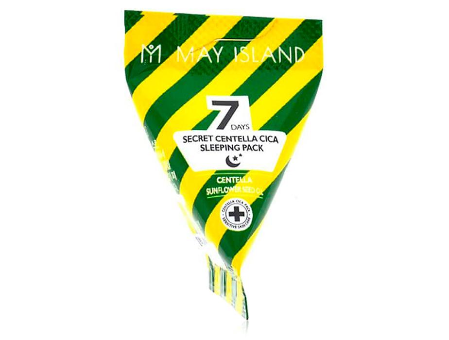 Успокаивающая ночная маска для лица с экстрактом центеллы May Island 7 Days Secret Centella Cica Sleeping Pack, 5г