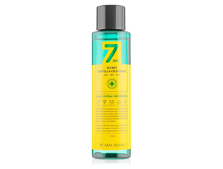 Восстанавливающий тонер для проблемной кожи с экстрактом центеллы May Island 7 Days Secret Centella Cica Toner, 155мл - Фото №1