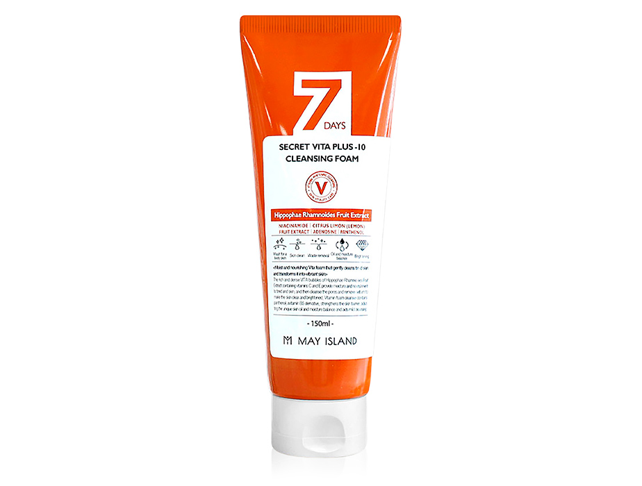 Витаминизирующая пенка для умывания May Island 7 Days Secret Vita Plus-10 Cleansing Foam, 150мл