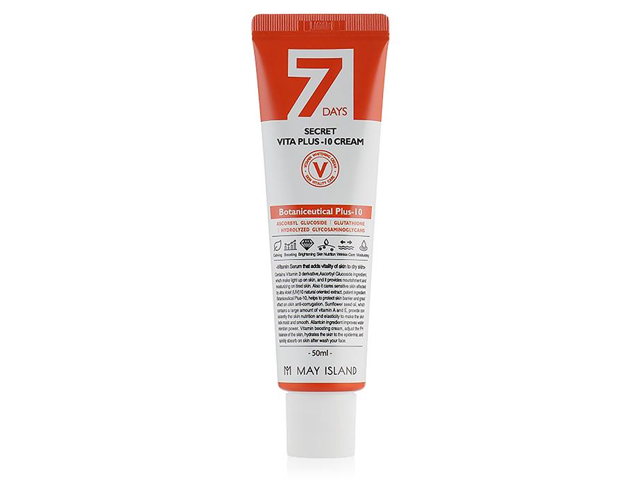 Витаминный крем для лица May Island 7 Days Secret Vita Plus-10 Cream, 50мл - Фото №1