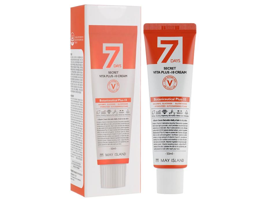 Витаминный крем для лица May Island 7 Days Secret Vita Plus-10 Cream, 50мл - Фото №2