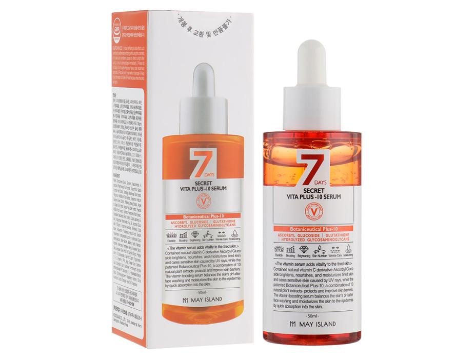 Сыворотка для лица с витаминным комплексом May Island 7 Days Secret Vita Plus-10 Serum, 50мл - Фото №2