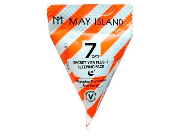 Ночная маска для лица с витаминами May Island 7 Days Secret Vita Plus-10 Sleeping Pack, 5г - Фото №1