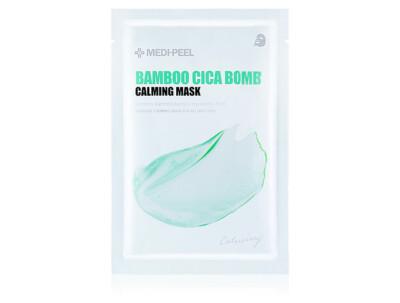 Успокаивающая маска для лица с центеллой и бамбуком Medi-Peel Bamboo Cica Bomb Calming Mask - Фото №1