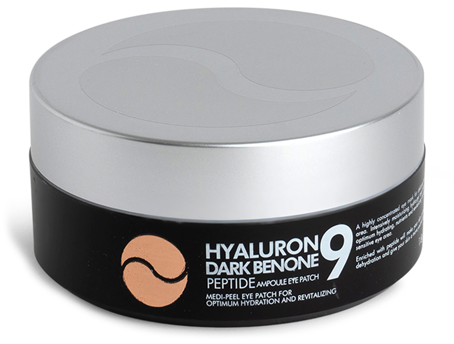 Осветляющие патчи под глаза с пептидами Medi-Peel Hyaluron Dark Benone Peptide 9 Ampoule Eye Patch, 60шт - Фото №2