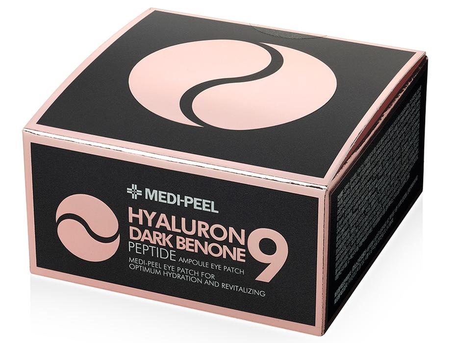 Осветляющие патчи под глаза с пептидами Medi-Peel Hyaluron Dark Benone Peptide 9 Ampoule Eye Patch, 60шт - Фото №4