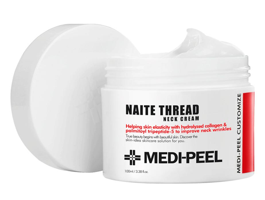 Пептидный крем для шеи и декольте Medi-Peel Naite Thread Neck Cream, 100мл - Фото №2